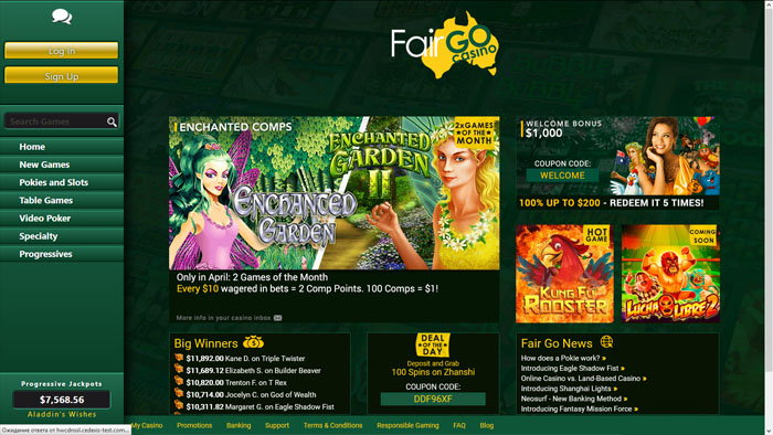 Fair Go Homepage