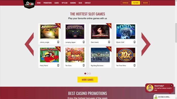 Slots Capital Homepage