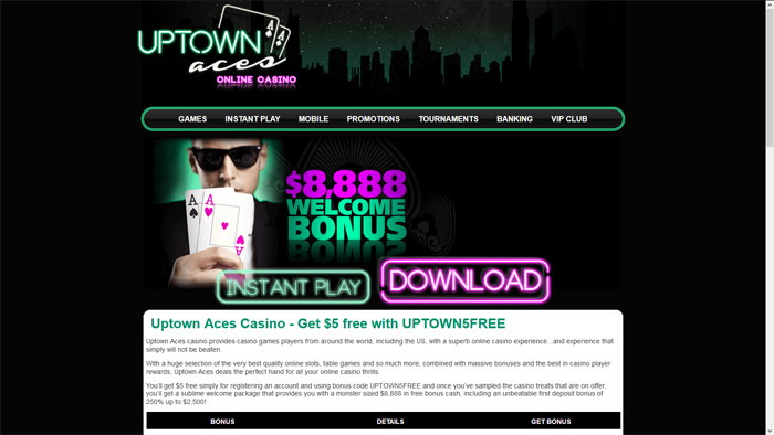Uptown Aces Homepage