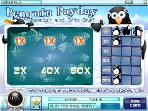 Penguin Payday Rival Scratch Card