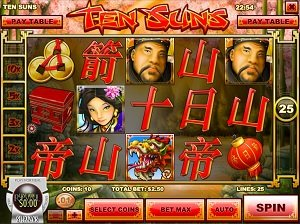 Ten Suns Slot Machinbe in the Ignition Casino